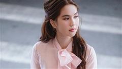 Diện nguyên cây hồng, Ngọc Trinh hóa tiểu thư đầy ngọt ngào tại sân bay