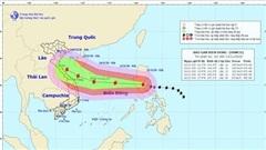 Tin bão Vamco mới nhất: Giật cấp 15, đi vào biển Đông gây mưa dông, sóng lớn