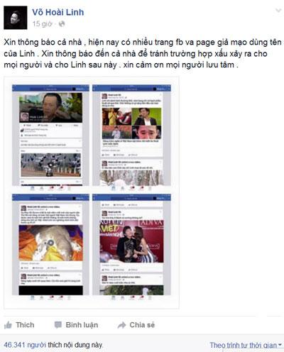Không dưới một lần, danh hài Hoài Linh phải khuyến cáo người hâm mộ cẩn thận với những trang facebook giả mạo tên tuổi mình.