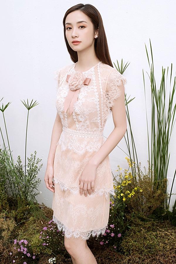 Loạt váy ren giúp Jun Vũ khoevẻ đẹp mong manh, nữ tính 6