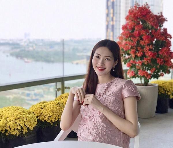 Hoa hậu Đặng Thu Thảo thời điểm đang mang bầu 6 tháng.