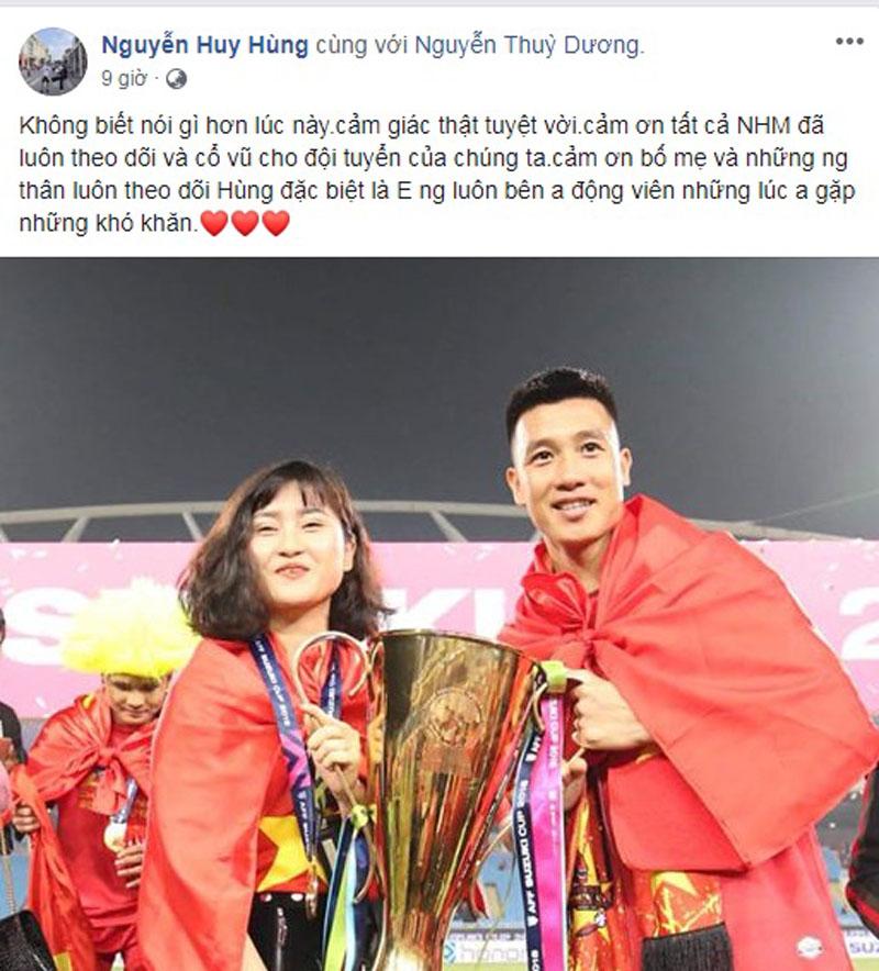 Vô địch AFF Cup 2018, các cầu thủ đăng gì lên facebook? 6