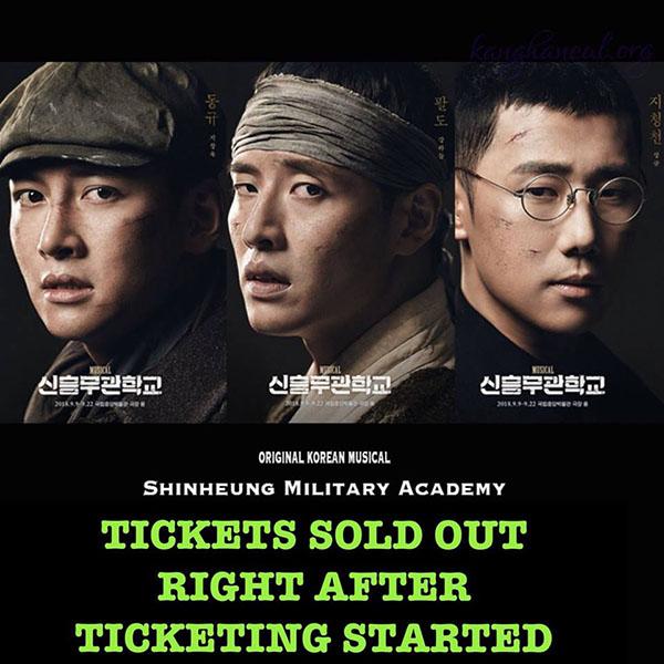 Vở nhạc kịch của quân đội Hàn Quốc với những gương mặt hot thu hút người xem.
