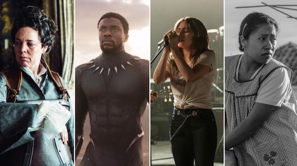 Các phim đáng chú ý của đề cử Phim hay nhất: The Favourite, Black Panther, A Star Is Born, Roma.