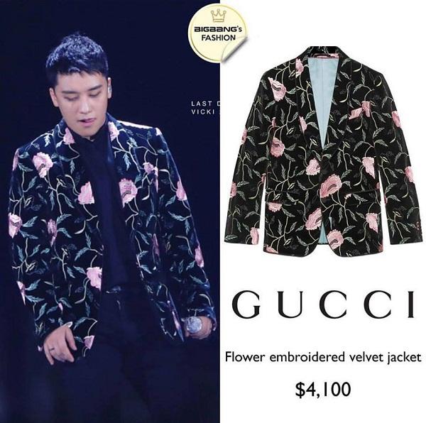 Một chiếc vest khác có thiết kế màu mè hơn của Gucci được bán ở mức 4100 USD (90 triệu đồng).