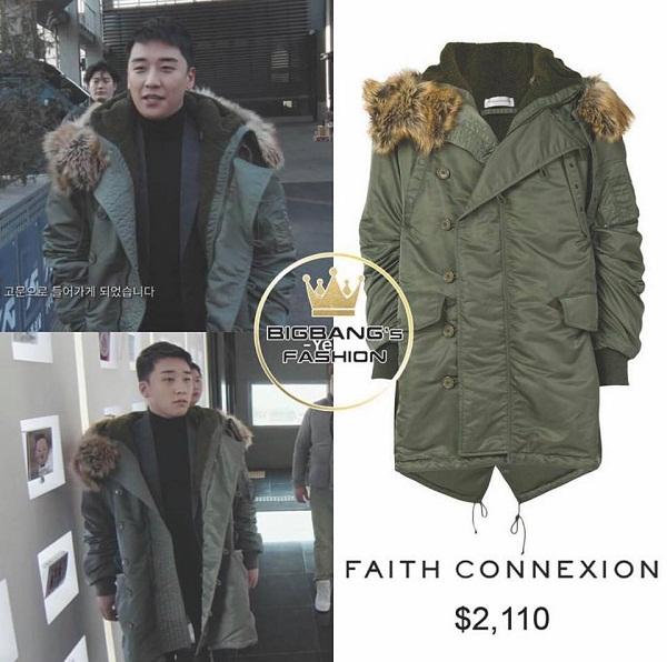 Mỹ nam không ngần ngại tậu ngay cho mình chiếc áo khoác Faith Connexion giá khoảng 2110 USD (46 triệu đồng) để diện khi thời tiết đại hàn 'gõ cửa'.