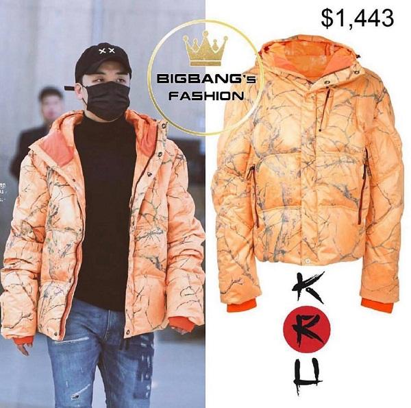 Đôi khi không cần chải chuốt, chỉ cần một chiếc áo len cổ lọ, quần jeans phối cùng áo phao có màu sắc nổi bật như thế này là đủ. Chiếc áo phao của nhãn hiệu KRH được bán ở mức 1443 USD (xấp xỉ 32 triệu đồng).
