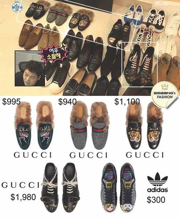 Những đôi sục Gucci của chàng trai trẻ có giá dao động từ 21 triệu đến 43 triệu đồng.