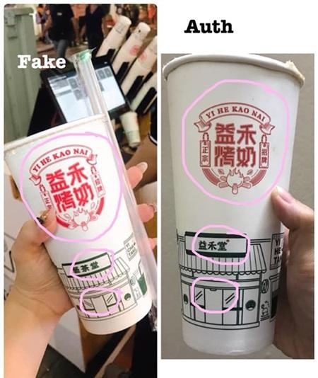 Một số người nhận ra loại trà sữa này không giống với hàng oder chính hãng
