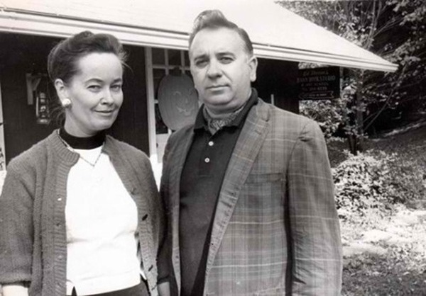 BàLorraine và chồng lúc sinh thời