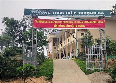 Trường THCS số 2 Thượng Hà, nơi có giáo viên bị tố cáo 'quan hệ' với học sinh. Ảnh: Tiền phong