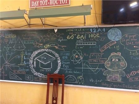 Các học sinh nhắc nhớ nhau cùng đỗ đại học và không ai được quên 'Chúng ta là ai? Mục tiêu của chúng ta là gì?'. Ảnh: Nguyễn Hữu Thọ