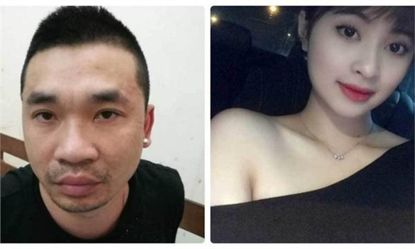 Văn Kính Dương (bên trái) và người tình Ngọc Miu
