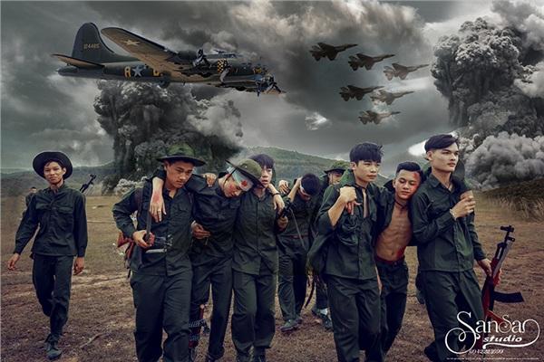 Chụp ảnh kỉ yếu tái hiện một thời bom đạn, học sinh Hà Nội được khen tới tấp 'vừa ngầu, vừa ý nghĩa' 3