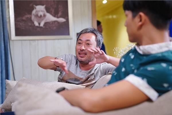 Nguyễn Quang Dũng trên phim trường 'Ước hẹn mùa thu'