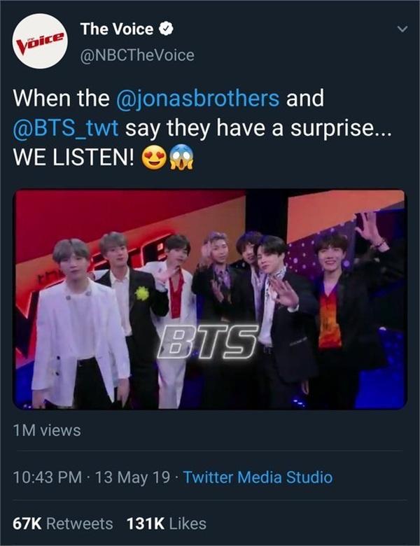Bài đăng của chương trình cũng hé lộ khả năng Jonas Brothers và BTS xuất hiện và biểu diễn trong đêm chung kết.