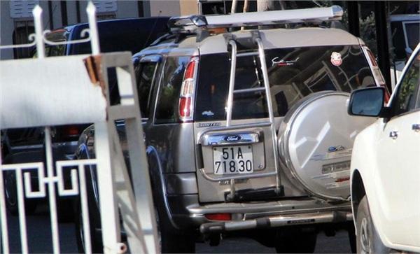 Chiếc xe mang biển kiểm soát TP HCM là manh mối quan trọng của vụ án. (Ảnh: LA)