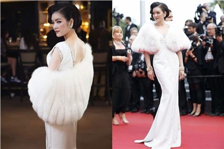 Vẻ đẹp cổ điển của Lý Nhã Kỳ được tôn lên trong chiếc đầm trắng trị giá 30,000 USD (hơn 700 triệu đồng).