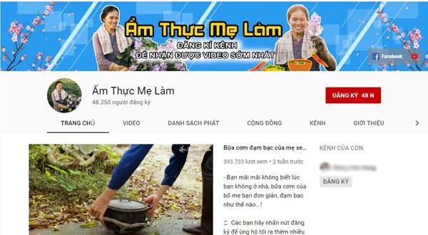 Tuy chỉ đạt gần 50.000 lượt sub nhưng kênh Youtube Ẩm thực mẹ làm lại được đánh giá là chất lượng và đáng xem hơn cả.
