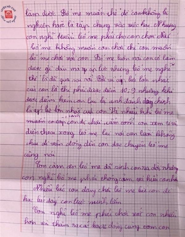 Những dòng thư ngây ngô khiến bậc làm cha làm mẹ lặng người