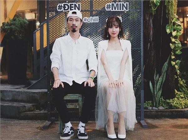 Đen và Min cực chill trong poster giới thiệu sản phẩm âm nhạc mới.