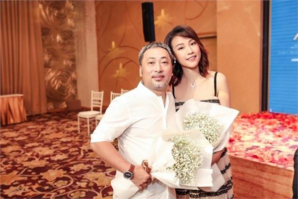 Hoàng Oanh và đạo diễn Nguyễn Quang Dũng