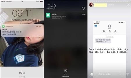 Nhiều fan nhận được tin nhắn lạ vào số điện thoại.
