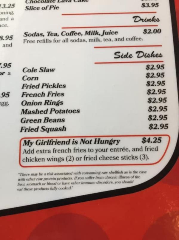 Món 'EM KHÔNG ĐÓI' xuất hiện trong thực đơn của nhà hàng Mama D's Diner