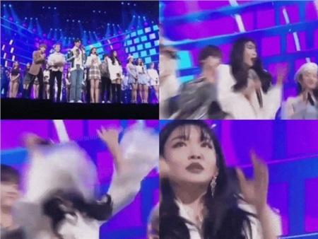 Gương mặt hoang mang khi bị camera zoom vào bất ngờ của Chungha đã đi vào 'huyền thoại' làng 'meme'.