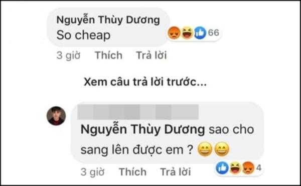 Siêu mẫu Thùy Dương khiến netizen chỉ trích gay gắt vì gọi một đàn anh đi trước nhiều năm trong nghề, đã có tên tuổi và những sản phẩm ghi dấu ấn tượng, là'so cheap'(rẻ tiền).