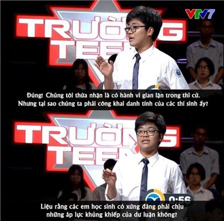 Phần phản biện của trường THPT chuyên Ngoại ngữ, Hà Nội.