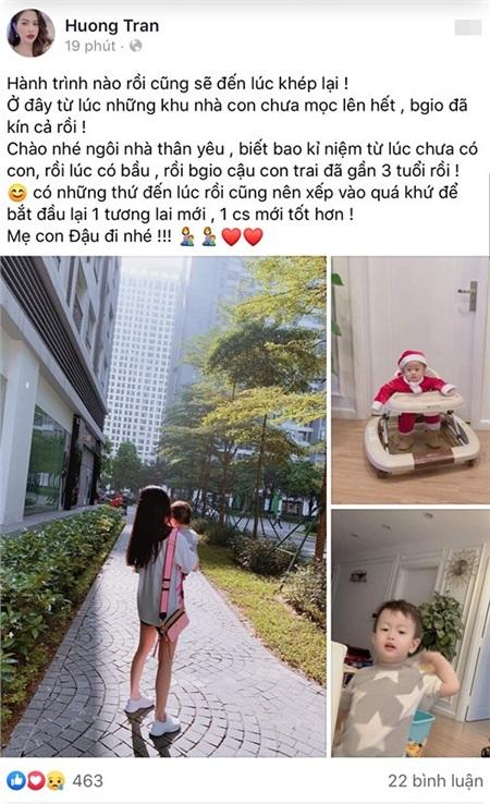 Vợ cũ Việt Anh cùng con trai chuyển đi, bịn rịn chia tay căn hộ từng sống 0