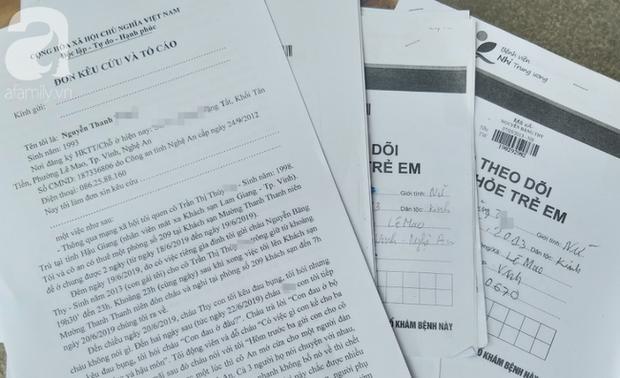 Đơn thư và tài liệu của bố cháu bé gửi các cơ quan chức năng