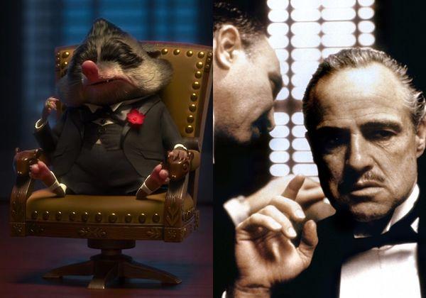 Mr. Big và bố già Corleone trong 'The Godfather' kinh điển.
