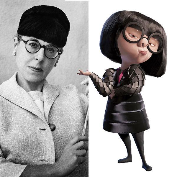 Edith Head và Edna Mode.