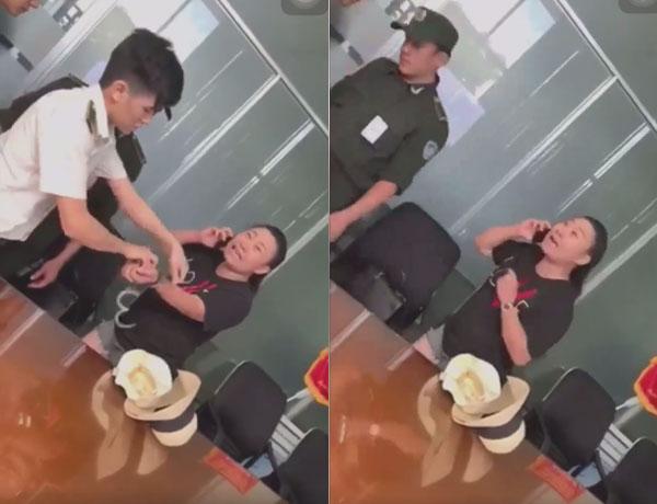 Dân mạng bức xúc vì Đại úy công an Lê Thị Hiền liên tục thóa mạ nhân viên an ninh, gọi điện 'cầu cứu' còn ăn vạ, 'khoe' đồng hồ 6000 đô 0