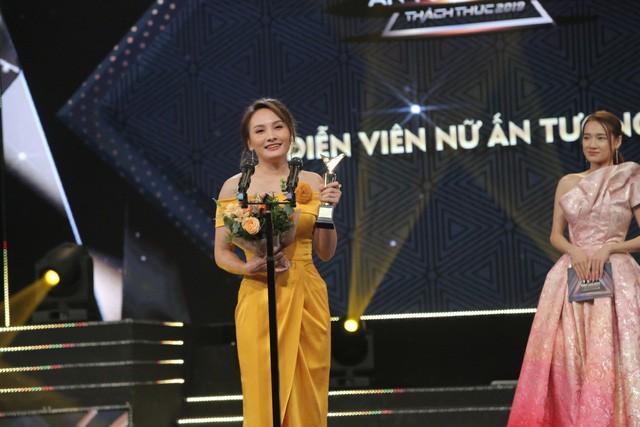 Diễn viên Bảo Thanh giành giải 'Diễn viên nữ ấn tượng' tại VTV Awards 2019. Ảnh: VTV News (VTV.VN)