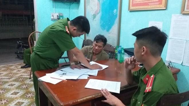 Thủ phạm Bùi Xuân Hồng bị công an bắt giữ sau khi gây án.