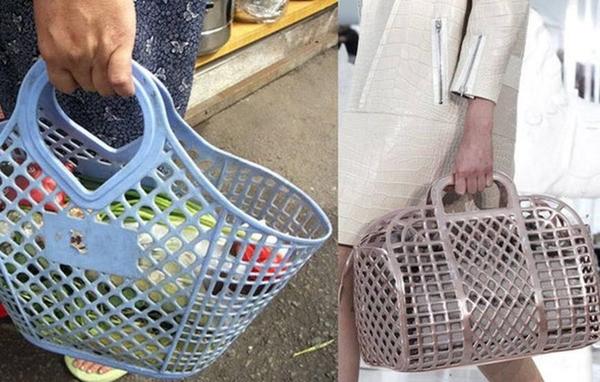 Chiếc túi xách của hãng LV có giá 2.600 USD (khoảng 60 triệu đồng) nhưng nhìn thoạt qua, nórất giống với chiếc làn nhựa mà các mẹ các dì vẫn hay dùng để đi chợ mỗi ngày.