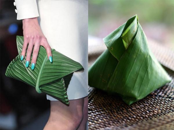 Chiếcclutch cầm tay củanhà mốt Hermes có giá 4.000 USD (tương đương gần 92triệu đồng) có vẻ bề ngoài giống vớichiếc bánh gói lá chuối.