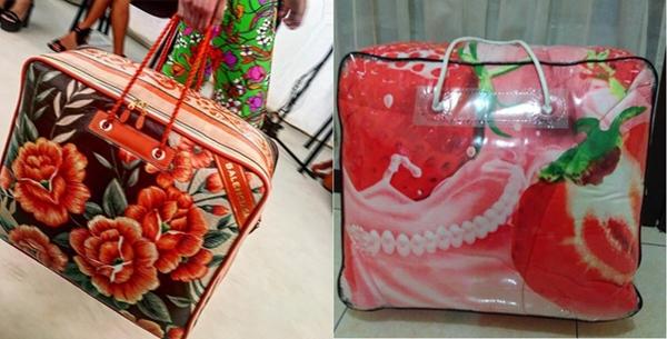 Nhà mốt Balenciaga cũng khiến giới mộ điệu bất ngờ khi cho ra mắt mẫu túi xách nhìn như chiếc túi đựng chăn quenthuộc trongmỗi gia đình.