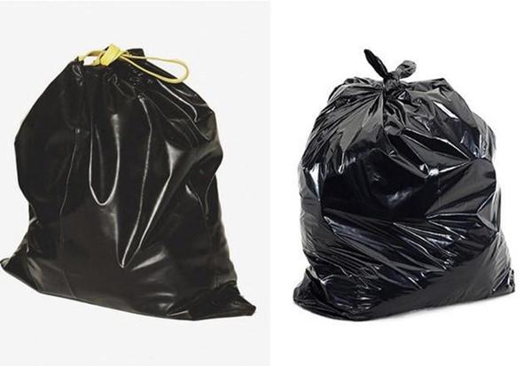 Chiếc túi dây rút của hãng BIIS có giá 350 Euro (khoảng 10 triệu đồng) nhưng nhìn chẳng kháctúi nilon đựng rác là bao.