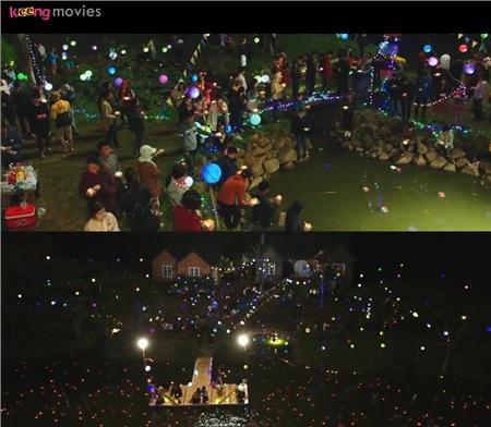 Lễ hội thả đèn hoa đăng lung linh ánh đèn trong Lật Mặt: Nhà Có Kháchthực chất là bối cảnh được dựng lại.