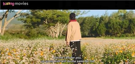 Hình ảnh mẹ La xuất hiện giữa đồng tam giác mạch cuối phim khiến khán giả bật khóc vì cảm động.