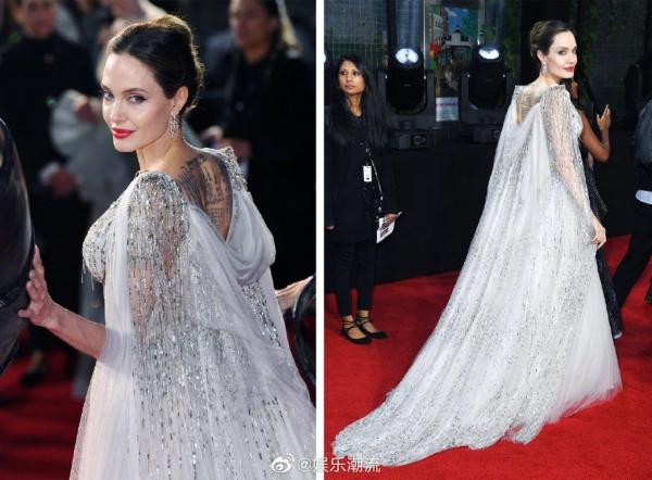 Không diện đầm công chúa thì thôi, một khi Angelina Jolie đã 'lên đồ' thì 'tiên tử Hollywood' cũng phải chịu lép vế 2