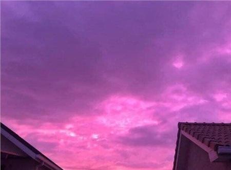Bầu trời chuyển sang màu tím ở Nhật Bản.
