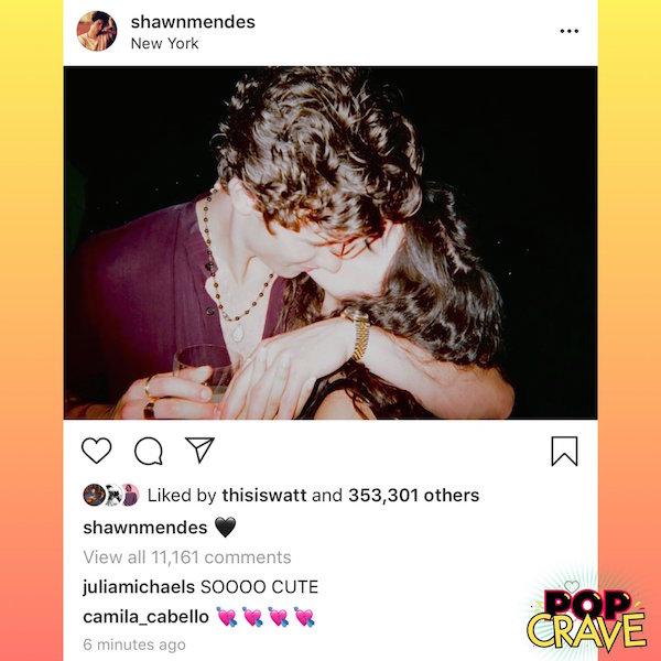 Shawn Mendes thì chỉ đăng một hình tình cảm với bạn gái.