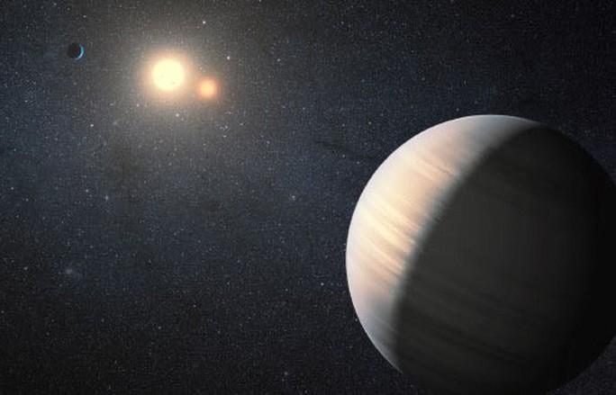 Hành tinh to lớn Gliese 15A c, nơi có thể nhìn thấy tới 2 'mặt trời đỏ' - ảnh đồ họa từ SCI-NEWS
