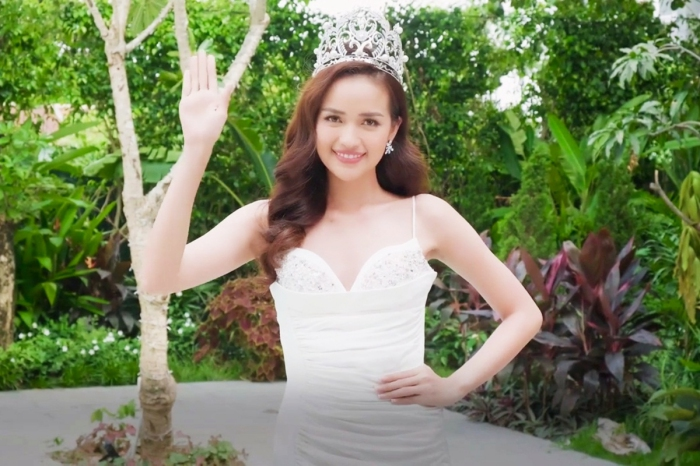 Ngọc Châu chia sẻ việc bố mất sớm, đưa thông điệp về ung thư trong clip giới thiệu tại Miss Supranational 2019 1