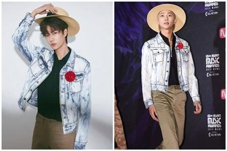 Với lợi thế chiều cao vượt trội, cả Vương Nhất Bác lẫn RM đều diện outfit trên vô cùng xuất sắc.
